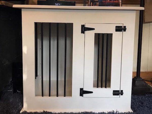 One door white dog kennel